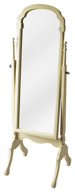 Butler Meredith Cottage White Cheval Mirror.