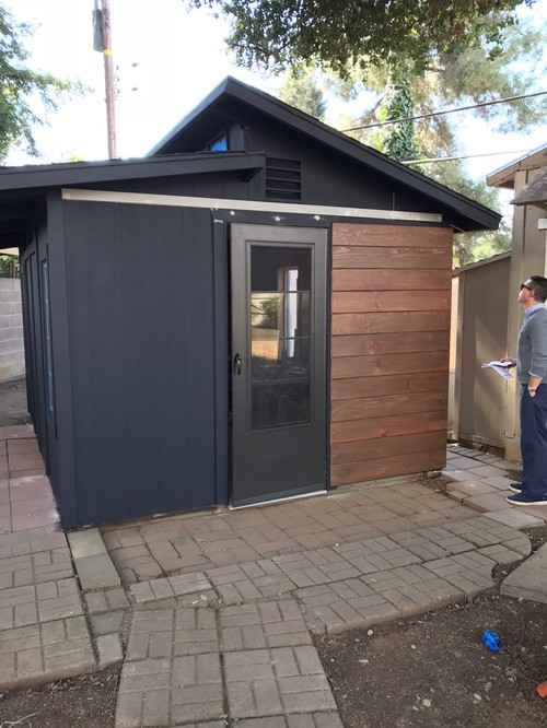 Wanted To Share With My Fellow Houzzers This Mini Renovation On Our Storage  Shed (before And After!)
