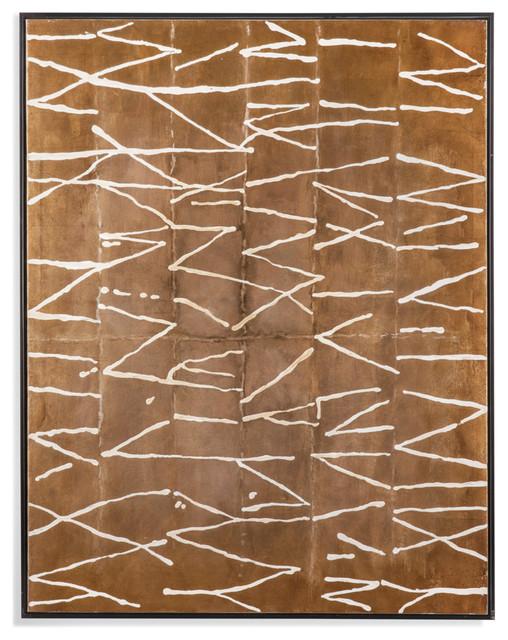 """Crackle"" Framed Handpainted Canvas"