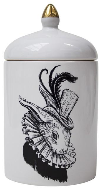 Bling Bunny Ceramic Pot