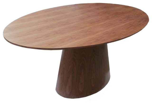 oval dining table walnut contemporary tables oak and chairs for 8 10 size