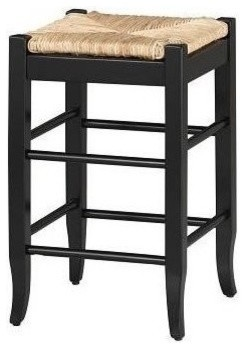 Boraam Square Rush 29 Quot Stationary Bar Stool Black