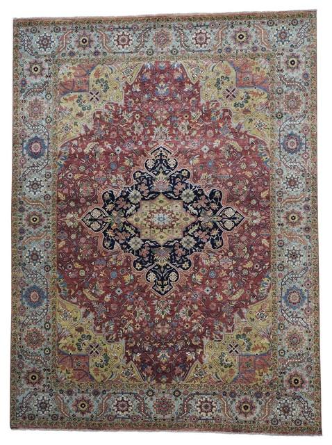 9 X 12 Heriz Wool Hand Knotted Oriental Rug Mediterranean Area