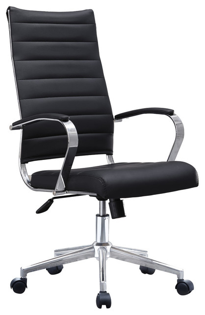 Boss Ribbed Pu Leather Office Chair