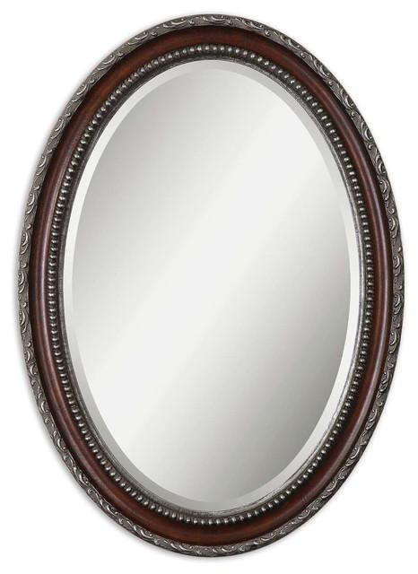 Uttermost Montrose Oval Silver Mirror.