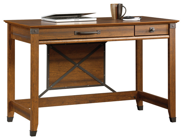 Carson Forge Writing Desk, Washington Cherry.