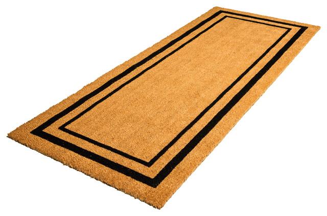 classic border coir doormat