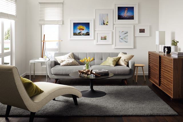 Anson Sofa And Delia Chaise By R B Midcentury Living Room