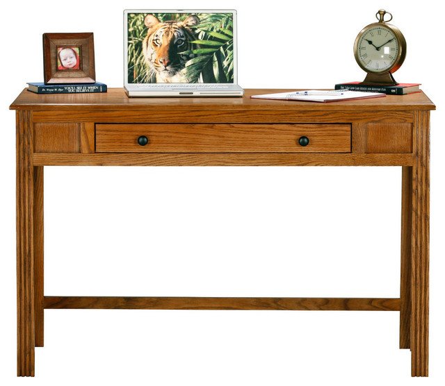 Eagle Furniture Oak Ridge Writing Desk, Dark Oak.