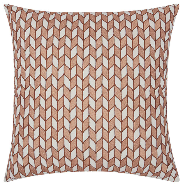 Mina Victory Luminecence Block Chevron Throw Pillow Contemporary Adorable Rose Gold Decorative Pillows