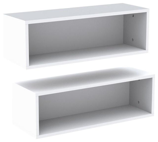 Wall Shelves, Set of 2, White