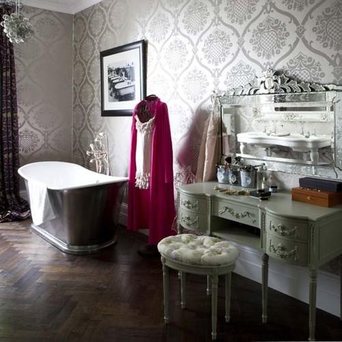 eclectic bath- livingetc eclectic bathroom