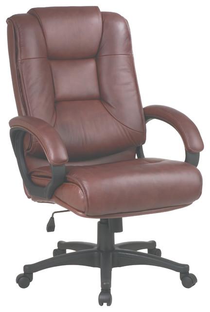 Work Smart Executive High Back Chair, Saddle.