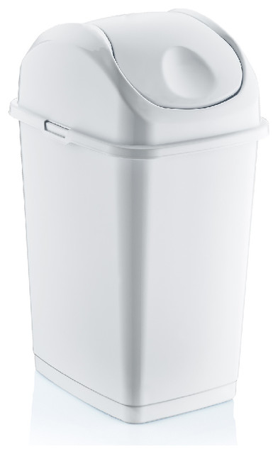 Superio Brand 4.7 Gal. Compact Slim Trash Can