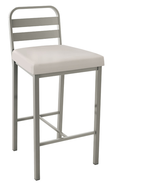 Tremendous Alberto Metal Stool Matte Light Grey Metal Beige Faux Leather Counter Height Gmtry Best Dining Table And Chair Ideas Images Gmtryco