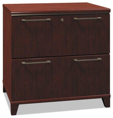 What type of hinges are used for this cabinet?