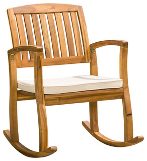 Sadie Outdoor Rocking Chair   Craftsman   Outdoor Rocking Chairs   By  GDFStudio