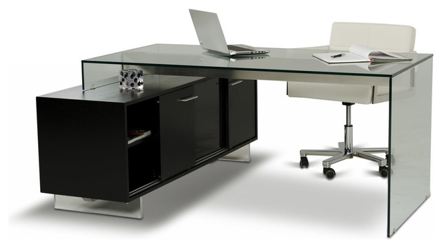alaska black oak office desk modern desks and hutches alaska black oak office desk