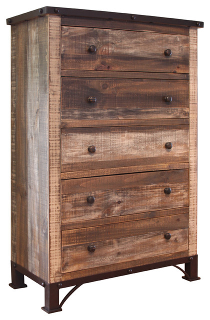 Beau Industrial Rustic Chest Of Drawers Industrial Dressers By