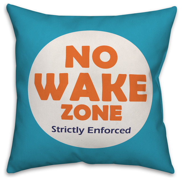 No Wake Zone 16x16 Throw Pillow
