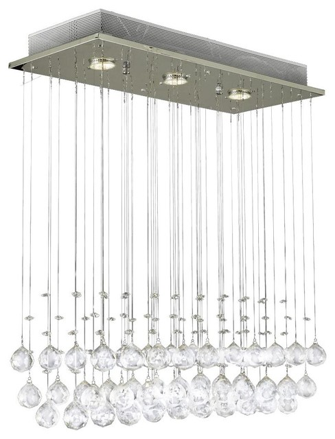 Modern Chandelier Rain Drop Crystal Ball Ceiling Lamp