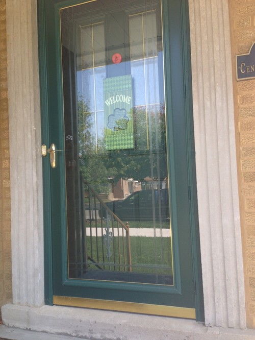 Perfect Right Now My Doors Are Hunter Green. My Landscaping Brick, My Home Brick,  Our Front Porch Railing Is A Caramel/mustard Tone, Our Window Trim And  Gutters Are ...