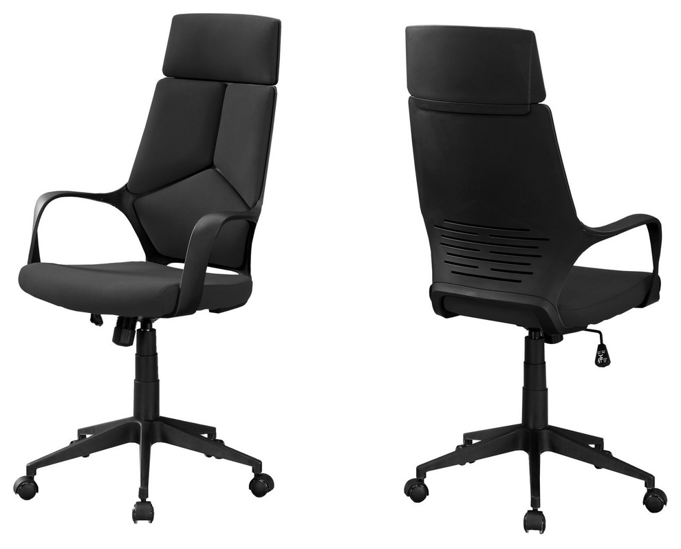 Sleek Black Office Chair Ergonomic