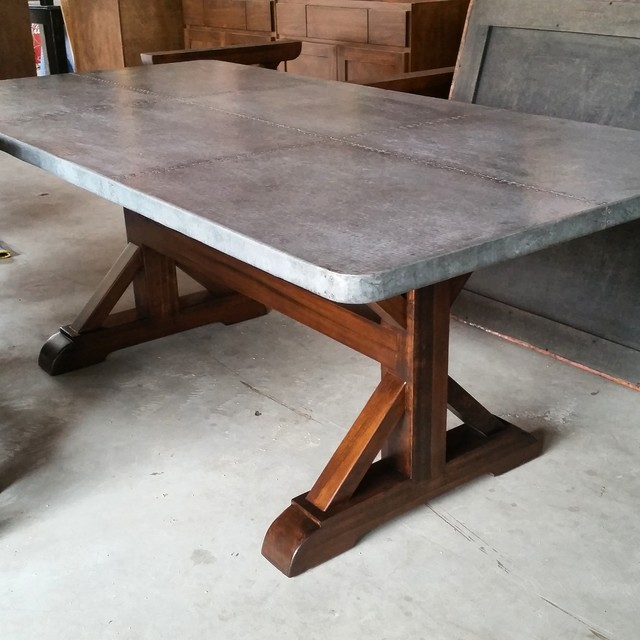 Awesome Zinc Farmhouse Table Farmhouse