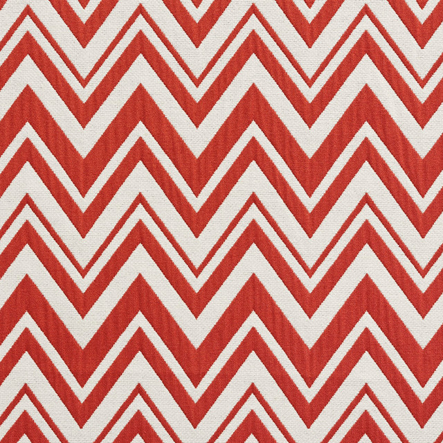 Red and White Chevron Zig-Zag Upholstery Fabric By The Yard - View ...