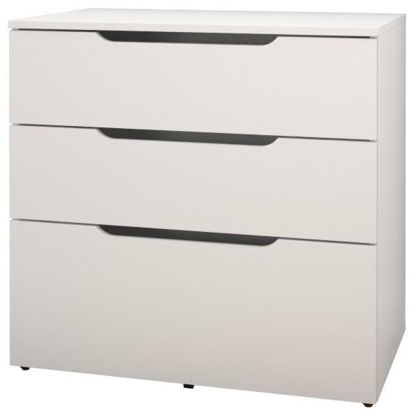 Arobas 3 Drawer Filing Cabinet, White.
