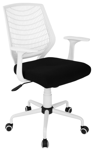 Network adjustable office chair with swivel contemporary for Black chaise lounge indoor
