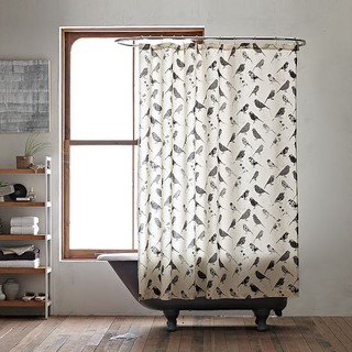 Bird Collage Shower Curtain modern shower curtains