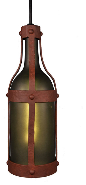 Wine bottle pendant pendant lighting by steel partners inc - Wine bottle pendant light ...