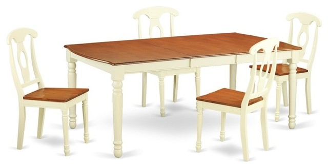 5-Piece Dining Room Set , Kitchen Dinette Table And 4 Dining Chairs