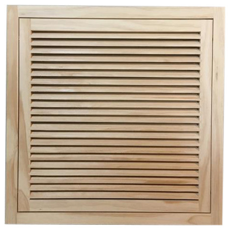 "Wood Return Air Filter Grille, 24""x24"", Standard Square Edge."