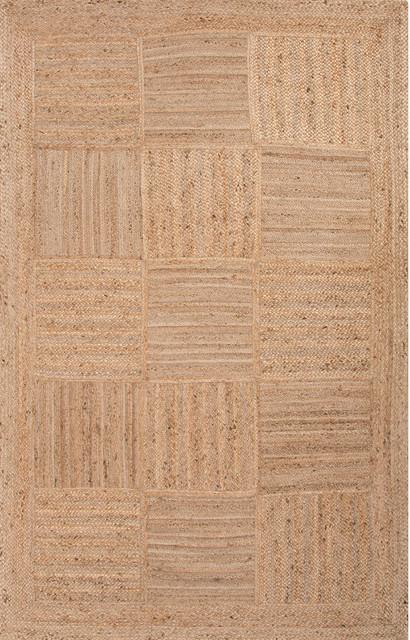 Jaipur Living Aaron Natural Geometric Tan Area Rug, 8&x27;x10&x27;.