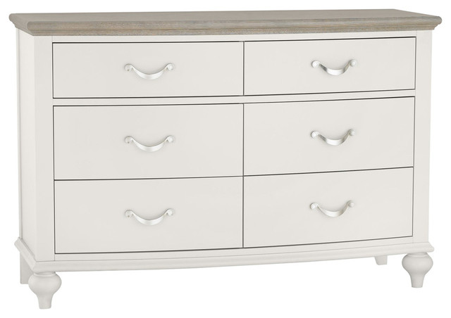 Denali Washed Oak and Grey  6-Drawer Wide Chest