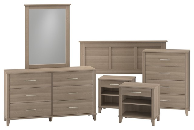 Somerset 6-Piece Bedroom Set, Ash Gray