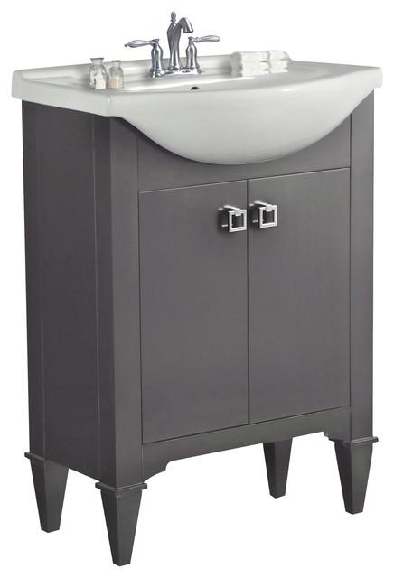 Amara Single Bathroom Vanity, Gray