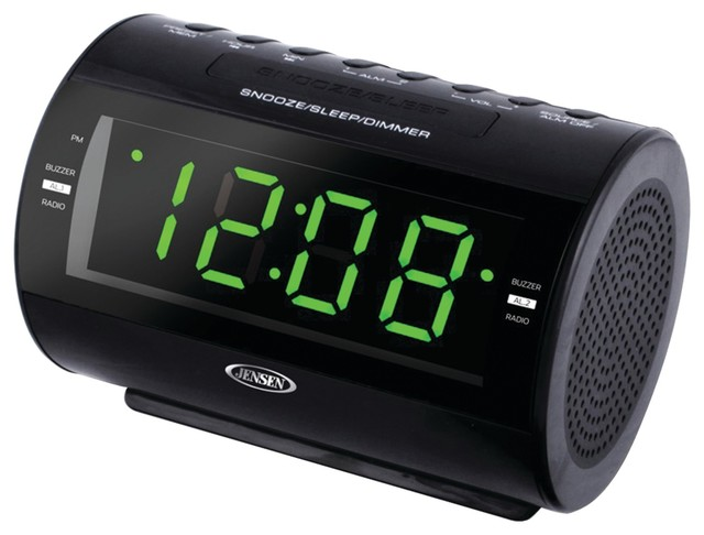 shop houzz jensen jensen am fm dual alarm clock radio home electronics. Black Bedroom Furniture Sets. Home Design Ideas