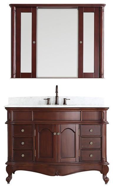 messina vanity carrara marble top 48 transitional