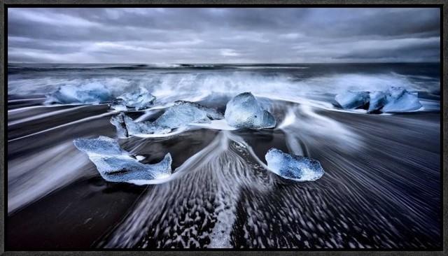 """blue Diamonds"" Artwork, 22""x12.3""."