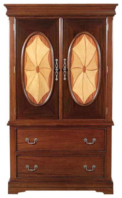 Shop Houzz | MBW Furniture Walnut/Salak TV Media Armoire Cabinet - Media Cabinets