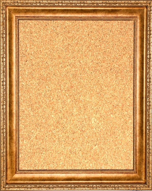 framed cork board 16 x 20 with antique gold finish frame traditional
