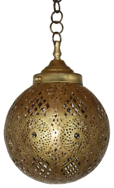Moroccan Br And Silver Hanging Pendant Light