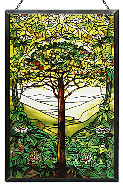 Tree Of Life Stained Gl Panel