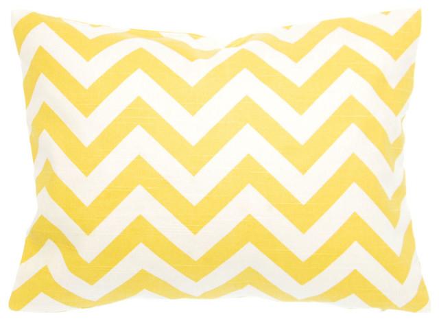 "Sierra Yellow Pillow/travel Case 12""x16"", Cotton And Linen."
