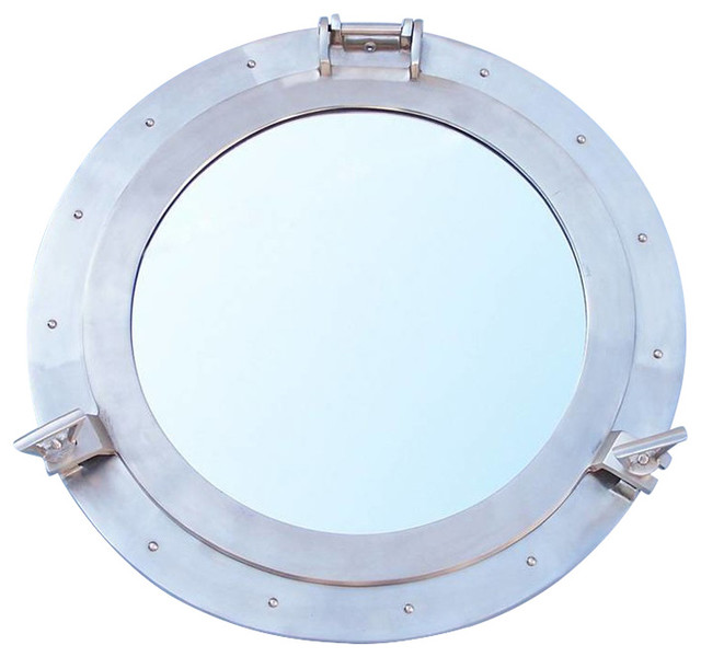 Handcrafted nautical decor decorative ship porthole for Porthole style mirror
