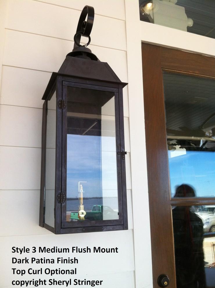 Style 3 Transitional Flush Mount Gas Lanterns