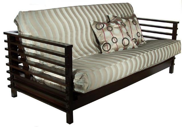 Orion Black Walnut Futon Frame, Full, By: Strata Furniture Beach Style